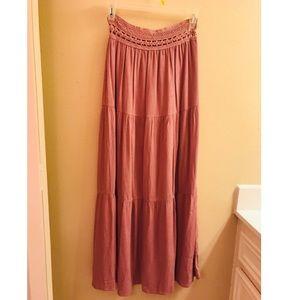 Pink maxi skirt.